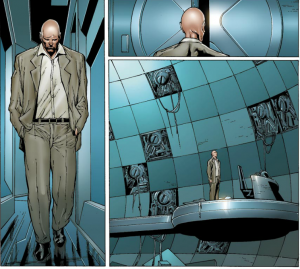 Sad Professor X with Cerebro