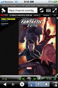 Marvel Comics on iPhone