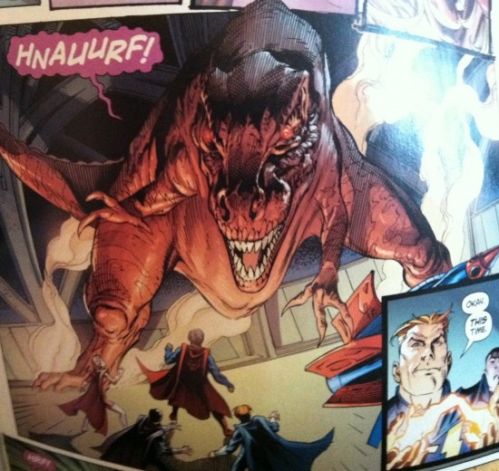 Superman Vs T-Rex