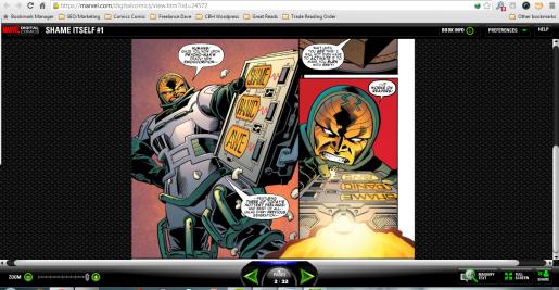 Reading marvel comics online