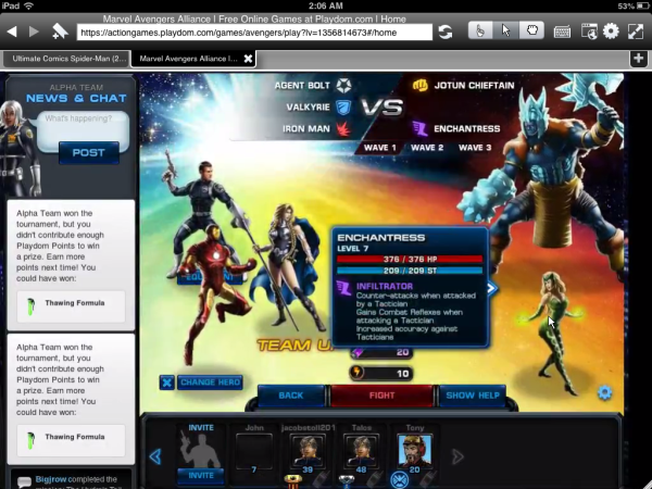 Marvel Avengers Alliance Gameplay