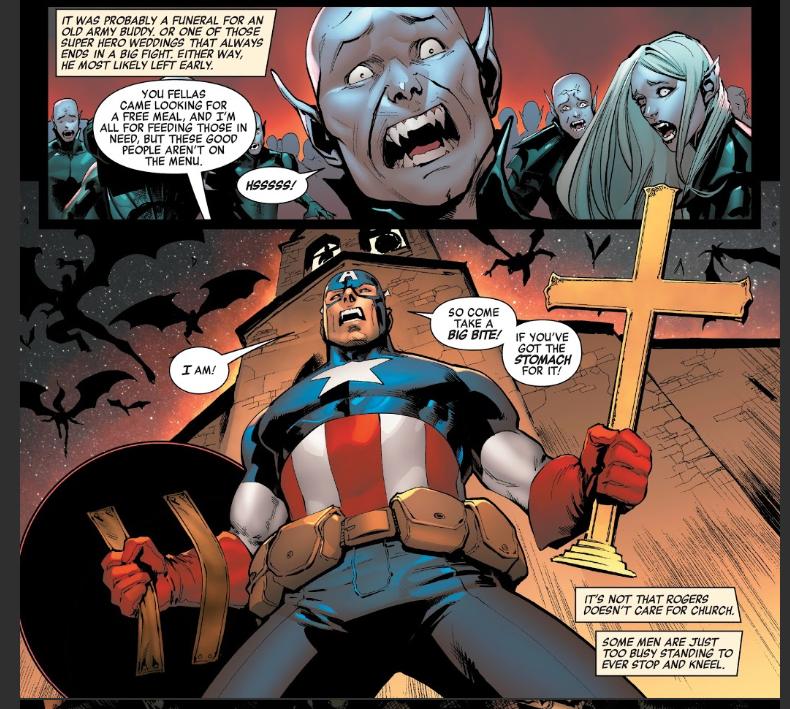Captain America fights Vampires