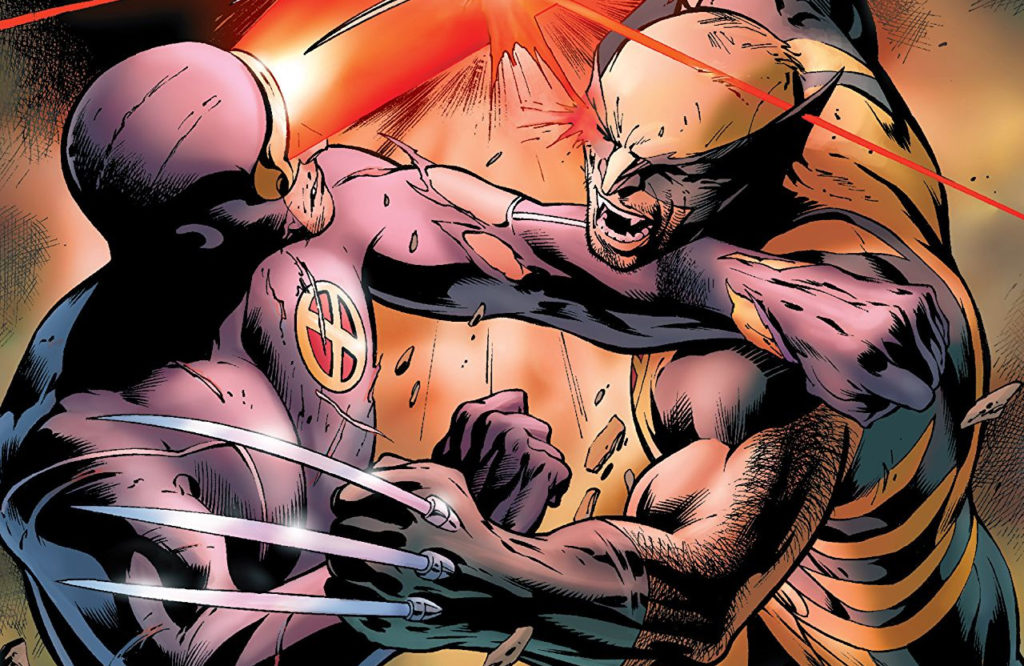 Wolverine vs Cyclops in the X-Men event schism