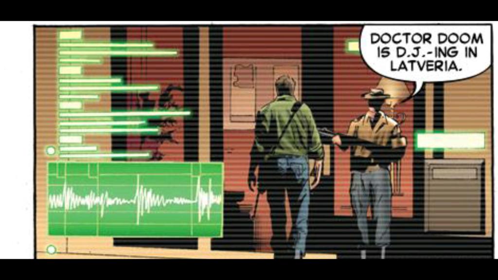 Iron Man Dr Doom is a DJ