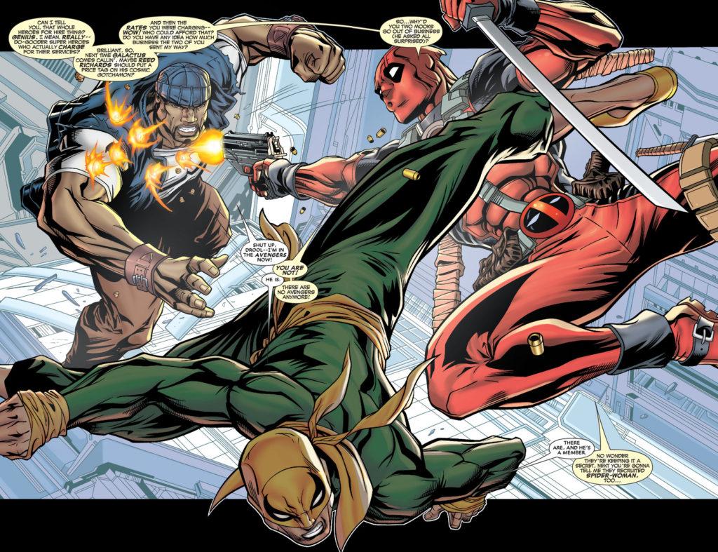 Deadpool versus Avengers