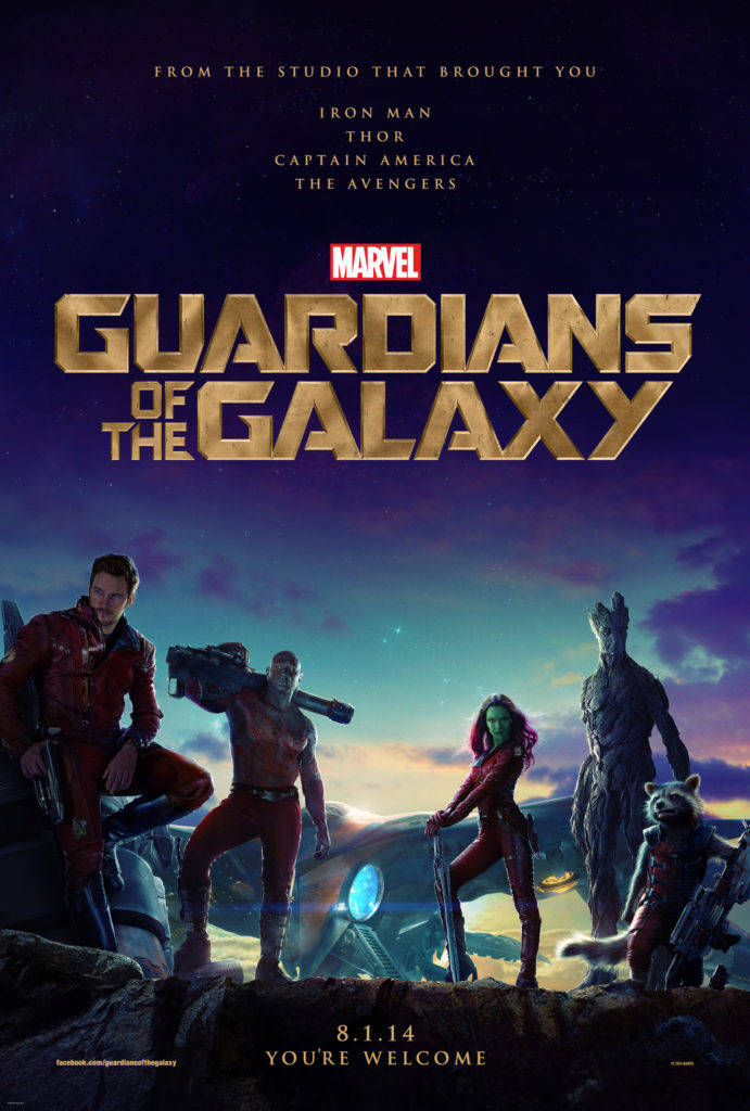 The Guardians of the Galaxy say You're Welcome.