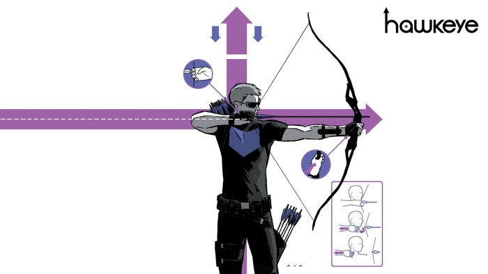 David aja style hawkeye drawing