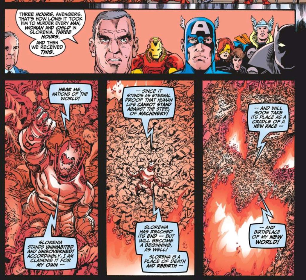 Ultron commits Slorenian genocide