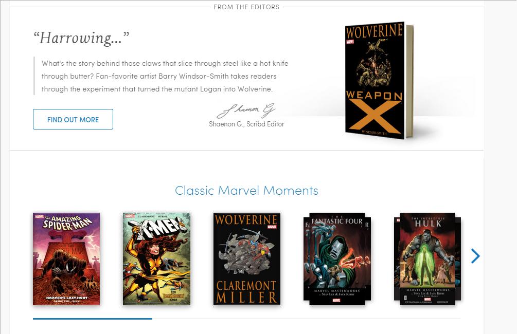 Marvel Comic Books on Scribd