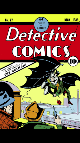 Batman's first appearance in comics