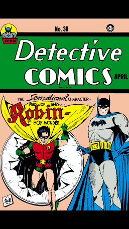 The first appearance of Robin in Batman