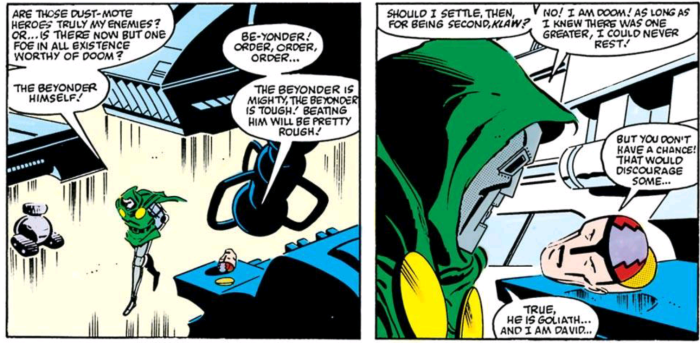 Doctor doom never settles for second