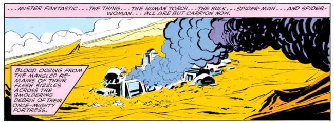 Doom kills the marvel universe