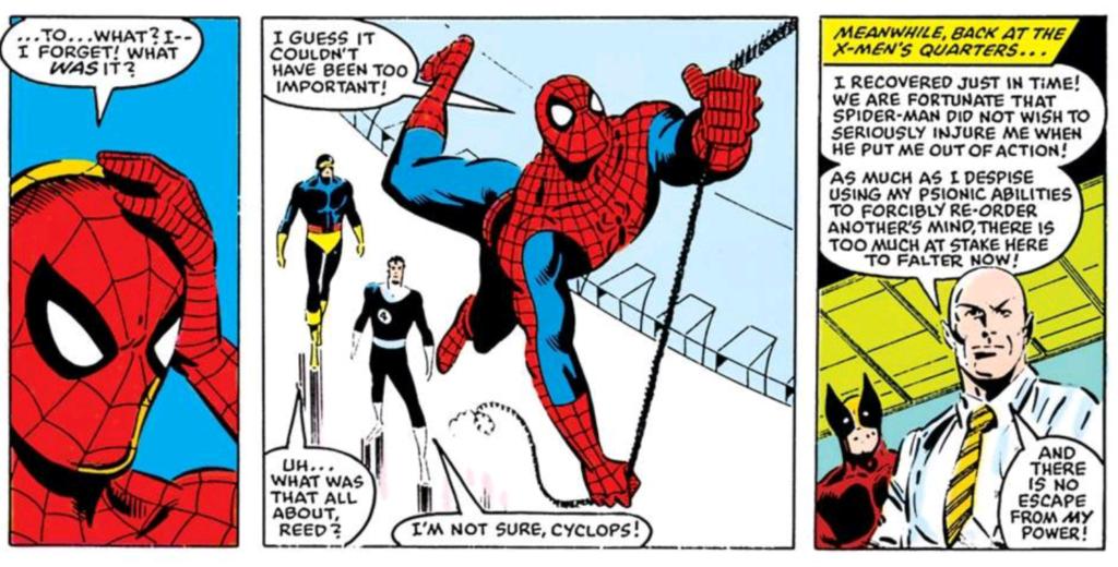 professor-x-mind-wipes-spider-man
