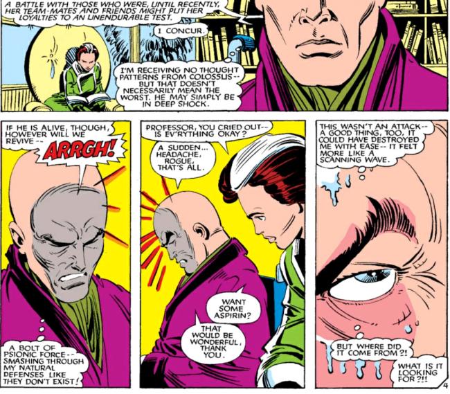 Professor X senses the Beyonder