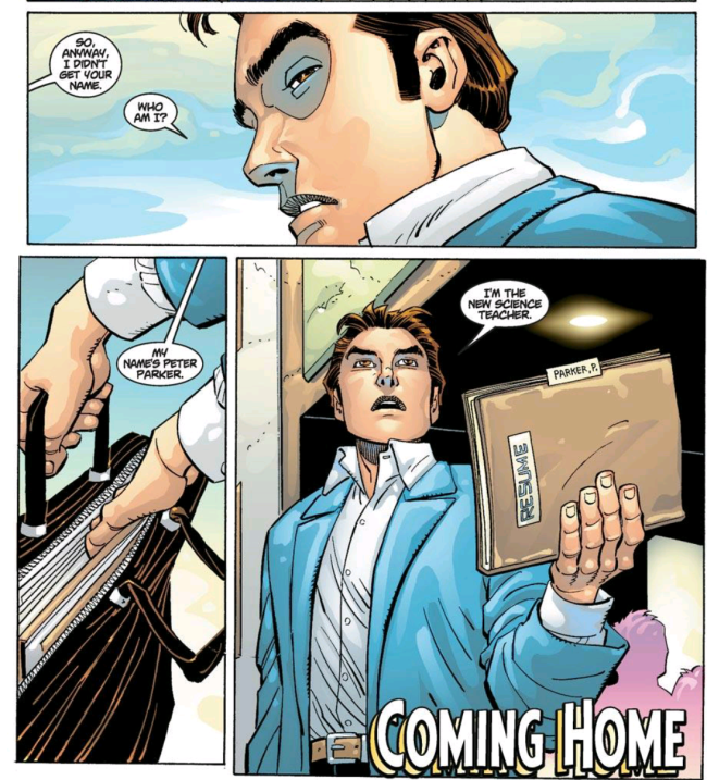 Peter Parker as Science Teacher