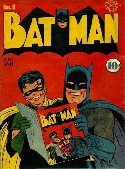 Batman reads batman comics
