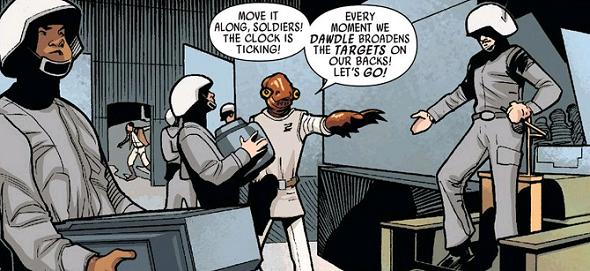 "Inspired, Ackbar later busts an impressive rendition of Dire Straits's ""Money for Nothing""at Officer's  Club karaoke..."