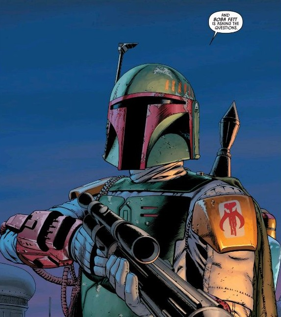 "Such as: ""Why is Boba Fett referring to himself in the third person?"""