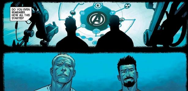 Were we ever that young? (Avengers #44. Art by Kev Walker- flashback homage to Jerome Opena's Avengers #1)