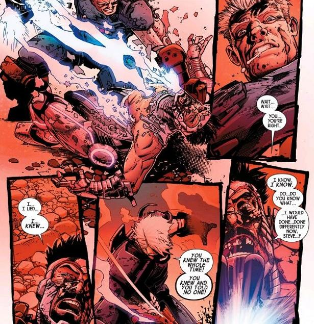 """""""You broke my heart, Fredo..."""" (Avengers #44. Art by Kev Walker)"""
