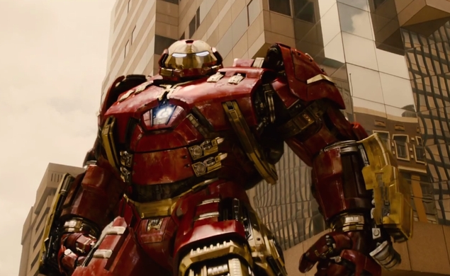 Iron Man in his Hulkbuster armor