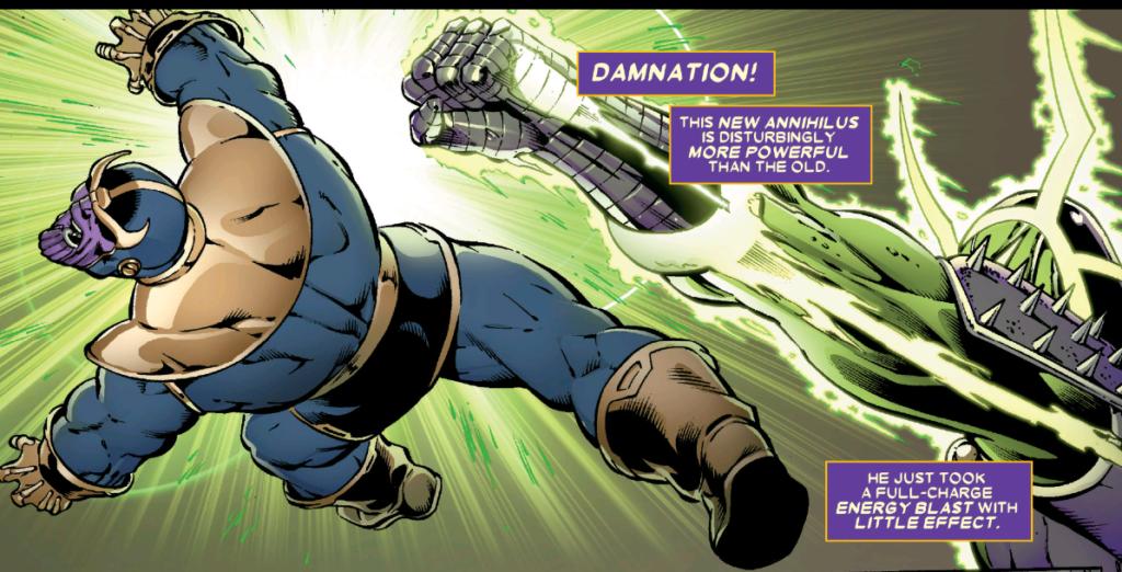 Annihilus punches Thanos