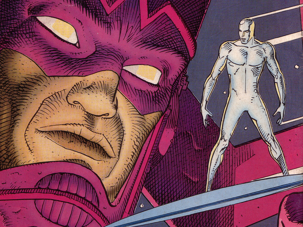 Beautiful Silver Surfer art