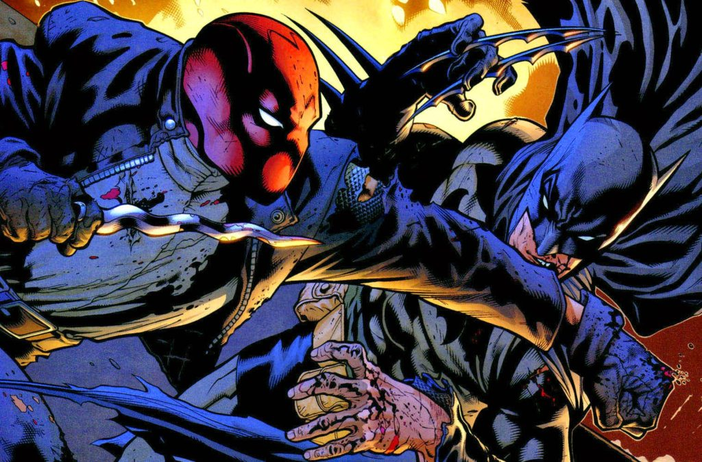 batman fights red hood