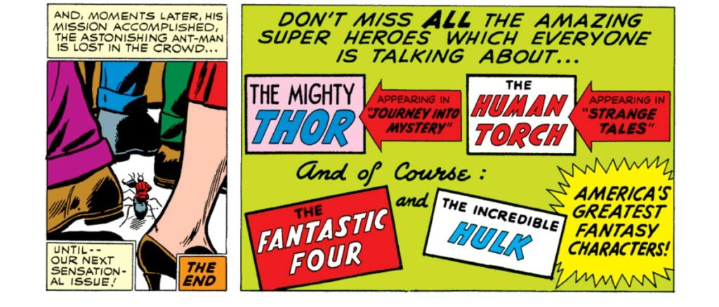 Very early Marvel Comics ad
