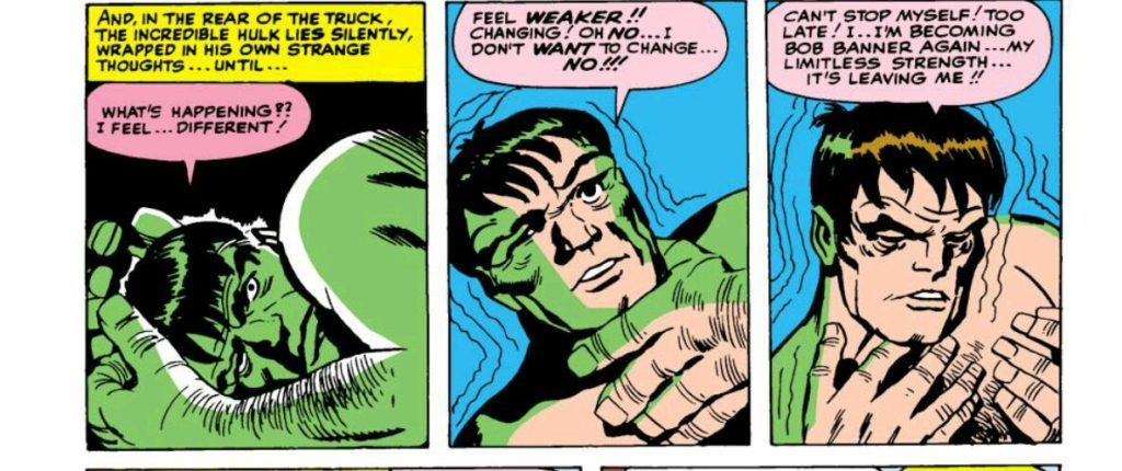 Bob Banner in the Hulk