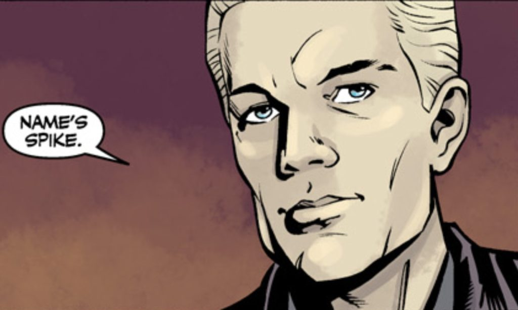 Spike in his own comic book series