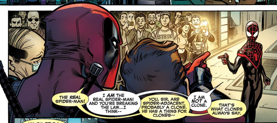 Deadpool meets Miles Morales Spider-Man