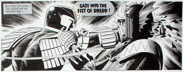 Judge Dredd Comic Books Say Gaze Into the Fist of Dredd