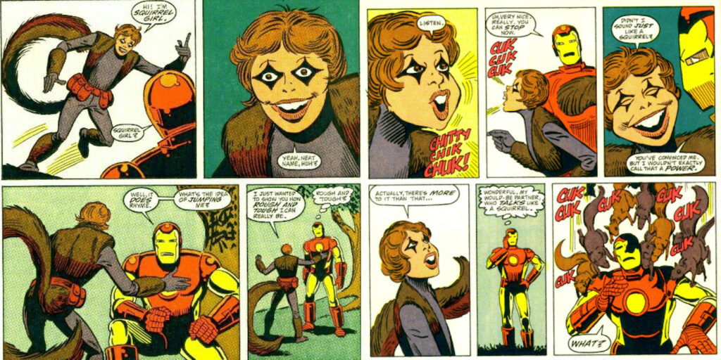 Squirrel Girl meets Iron Man