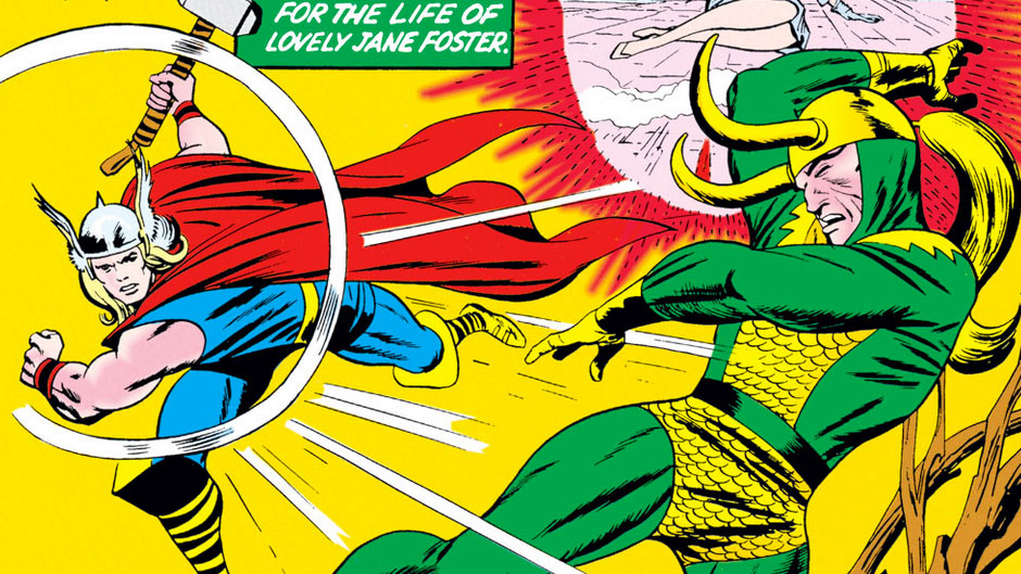 Stan Lee Jack Kirby Thor and Loki