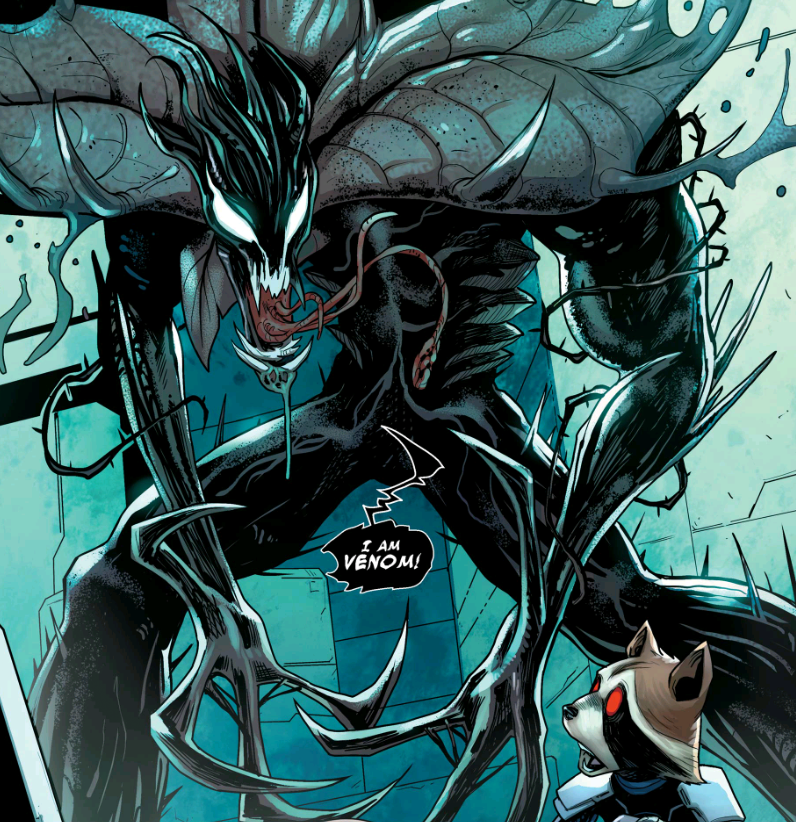 Groot gets taken by the Venom symbiote