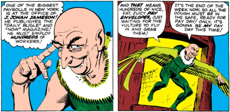 Vulture vs. Spider-Man in the 60's