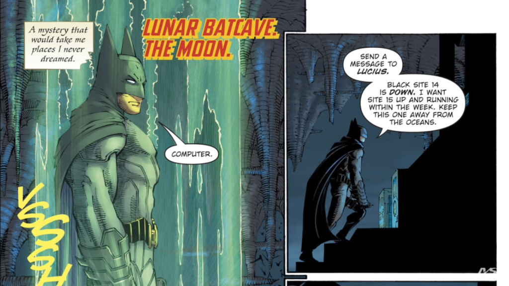 Batman on the moon