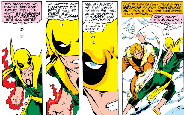 Iron Fist vs. Sabretooth by John Byrne