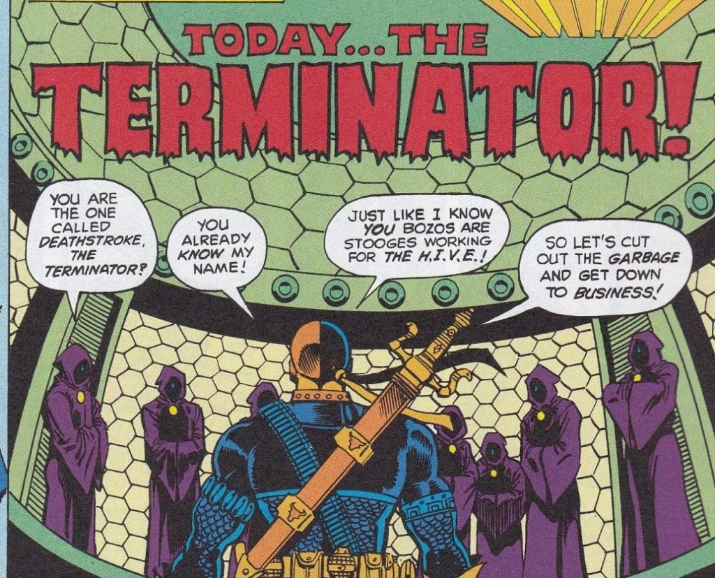 Deathstorke the Terminator's origins in New Teen Titans