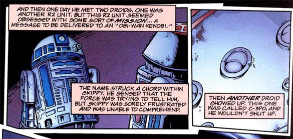 Peter David writing Skippy the Jedi Droid comic book