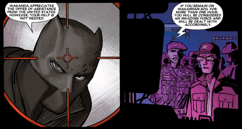 Black Panther in Reginald Hudlin's written comics