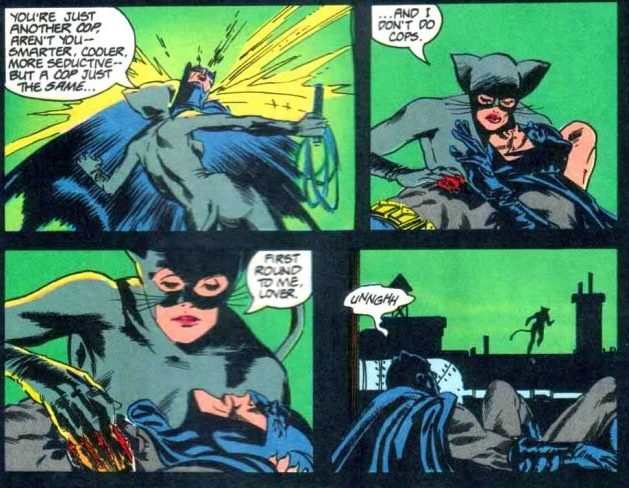 Catwoman takes down Batman
