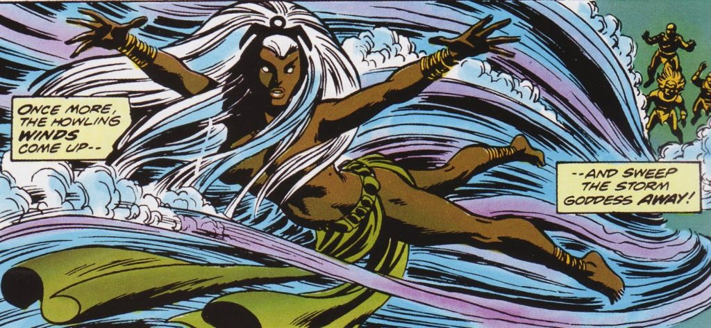 Storm as an African Godess