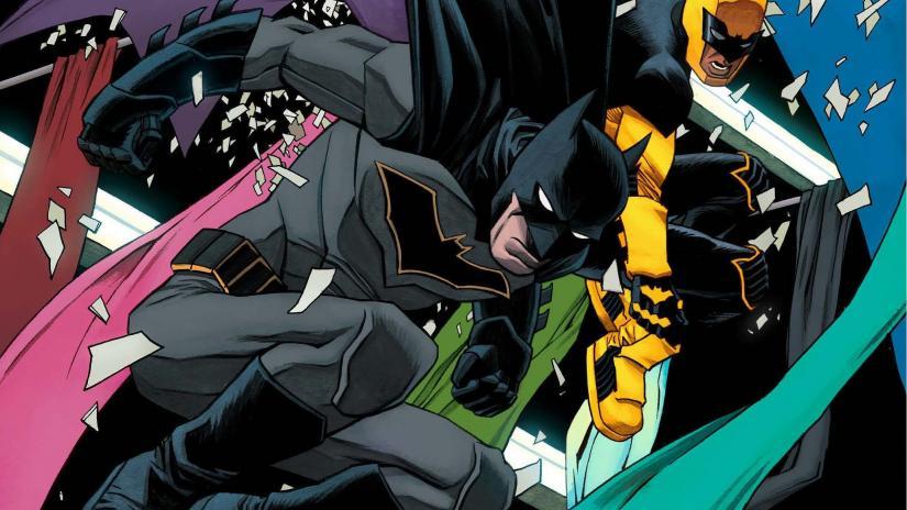 Batman and Duke Thomas in action