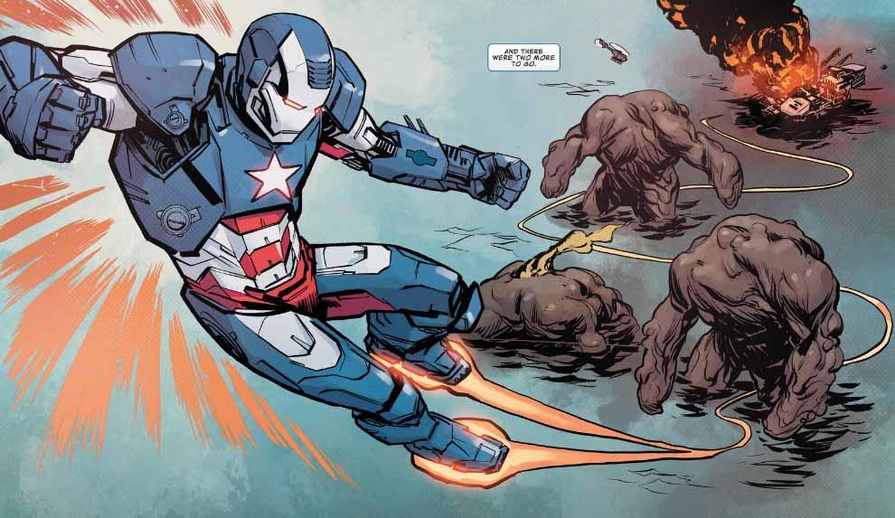 Jim Rhodes in the Iron Patriot armor suit