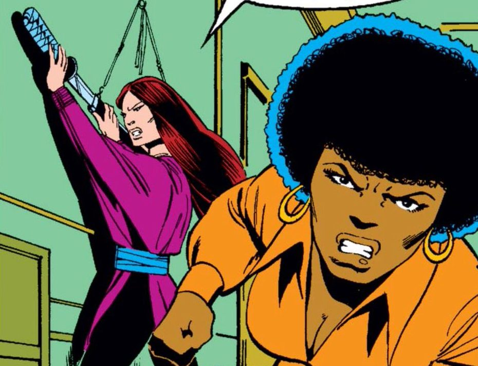 Misty Knight and Colleen Wing in their earliest comics appearances