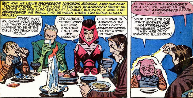 Scarlet Witch and Quicksilver with the Brotherhood of Evil Mutants