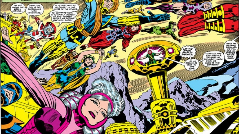 Jack Kirby created Marvel's Eternals, a race of gods